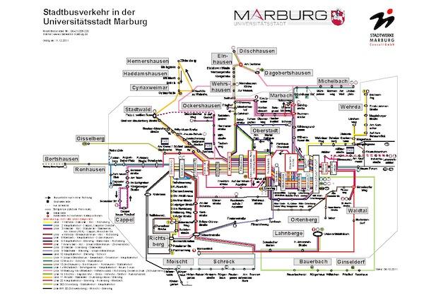 Kommunales Verkehrsverbindungen In Marburg Biedenkopf