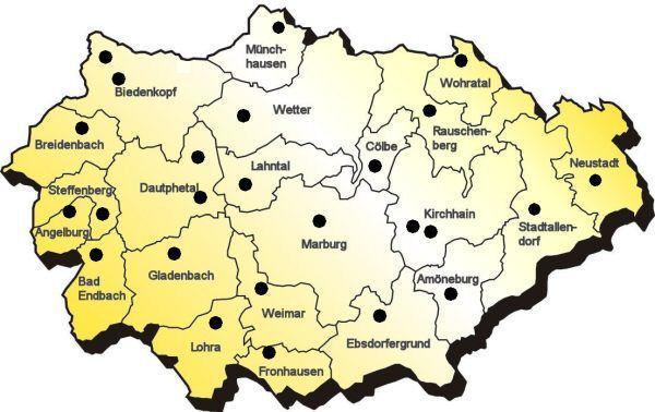 Kommunales   city map Marburg Biedenkopf VHS Marburg Biedenkopf