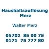 Haushaltsauflösung Merz - Walter Merz - Entrümpelungsdienst - Renovierungen