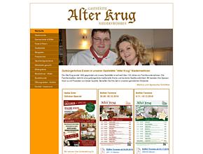 Alter Krug Niedernwöhren - Gaststätte - Familienfeiern - Hochzeitsfeiern