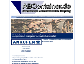 Andy  Biedermann - Containerdienste, Schrotthandel, Container Service Frankfurt