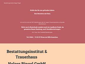 Bestattungsinstitut & Trauerhaus Holger Ringel GmbH | Ihr Bestatter mit Herz