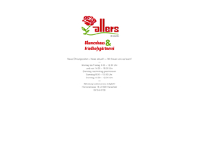 Blumenhaus Allers - Gärtnerei und Friedhofsgärtnerei