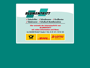 Blumentritt im Ticket-Point Stade