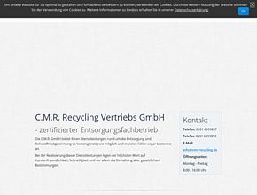 C.M.R Recycling Vertriebs GmbH Schrott Ankauf deutschlandweit