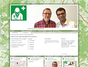 Karl-Heinz Hauser und Dr. med. Mostafa Rafat