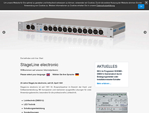 Lichttechnik, Mikrokontroller Programmierung | Stageline electonic- ZUR HOMEPAGE