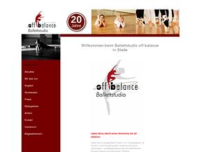 off balance - Ballettstudio