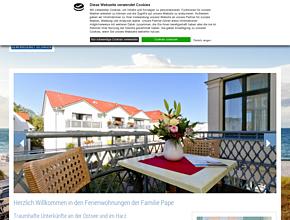 Pape Ferienwohnungen - Traumhafte Unterkünfte an der Ostsee & im Harz