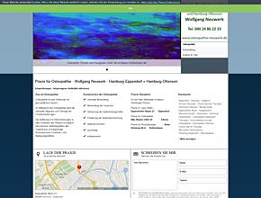Praxis für Osteopathie - Wolfgang Neuwerk - Hamburg-Eppendorf + Hamburg-Ottensen