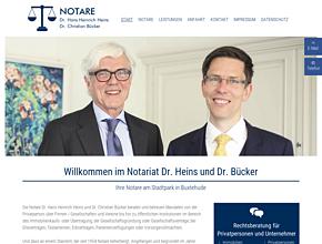 Notare Dr. Heins und Dr. Bücker