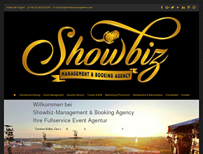 Showbiz-Management & Booking -Ihre Fullservice Dipl. Event Agentur & Künstlervermittlung