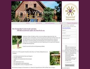 Sonnenhof Uckermark - Ferienhaus und Tipi