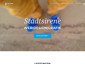 Stadtsirene Web|Design|Grafik