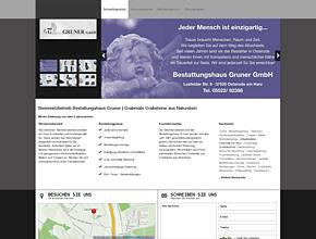 Steinmetzbetrieb Bestattungshaus Gruner | Grabmale Grabsteine aus Naturstein