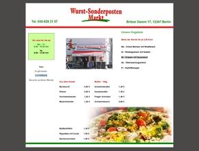 Wurst Sonderposten Markt